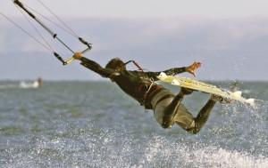 Do a railey and a board grab!